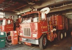2of 3 Mack Super pumper unit's.