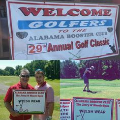Welsh Wear is thrilled to be a sponsor of the of the Alabama Booster Club Annual Golf Tournament today! #RollTide #Bama #BamaBoosterClub #JerryAndMoochOpen #WelshWearLovesTheTide