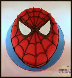 Spidey face cake