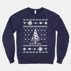 Ugly Pizza Christmas Sweater #uglychristmassweater #pizza #pizzashirt #pizzaparty #uglysweater #ugly #christmas #sweater #party