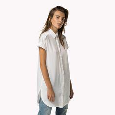 Tommy Hilfiger Chemise Longue Avec Détail En Maille - bright white (Blanc) - Tommy Hilfiger Chemises - image secondaire 0