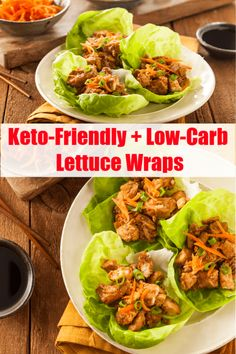 These low carb, keto friendly lettuce wraps are a perfect family dinner recipe. Check out my lettuce wrap taco recipe and ten other lettuce wraps recipes. Healthy Meals To Cook, Good Healthy Recipes, Real Food Recipes, Healthy Snacks, Eating Healthy, Clean Eating, Lettuce Wrap Recipes, Lettuce Wraps, Lettuce Tacos