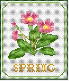 Okay, it's autumn, not spring (unless you're in the southern hemisphere!), but when you're feeling the winter doldrums, perhaps stitching this design would cheer you up – free cross stitch pattern from Alita Designs