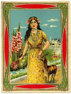 Antique Graphic - Exotic Beauty - The Graphics Fairy