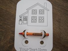 """Realtor Real Estate Agent """"pop-by"""" or Open House Hand Out coloring cards, set of 10 cards by YellowFoxDesign on Etsy"""