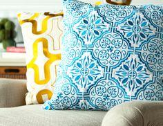 Love these quatrefoil pillows