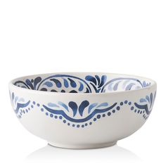 Juliska Wanderlust Iberian Journey Indigo Cereal/Ice Cream Bowl - Set of 4 Porcelain Jewelry, Porcelain Ceramics, Ceramic Bowls, China Porcelain, Pottery Painting Designs, Pottery Designs, Pottery Bowls, Ceramic Pottery, Thrown Pottery