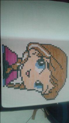 pixel art - Page 19 Graph Paper Art, Cute Drawings, Modele Pixel Art, Pixel Drawing, Pix Art, Art Disney, Pixel Pattern, Perler Patterns, Tricot