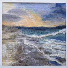 Evening Shoreline, Painting by Sue Lewis | Artfinder