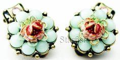 Michal Negrin Vintage Style Roses Clip Earrings | eBay