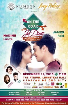 Watch JADINE… LIVE in concert on December With special guests Yassi Pressman, Donnalyn Bartolome and Andre Paras. :) Buy your tickets now at Ororama Redemption Counter (Cogon branch).
