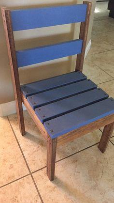 Silla de madera del cabrito por BuildYourFun en Etsy