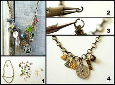 Anthro Cameo Collage Necklace Find Out How to Easily Make Your Own Necklaces