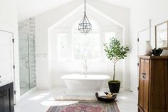 Today we are sharing the upstairs of the Alpine Modern Remodel where we tackled the master bedroom, bath and hallway guest bath. This master bathroom had really good bones and was such a good size but it needed a major overhaul on finishes. We chose to keep plumbing in place to save on cost. Here's …