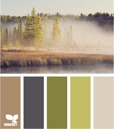 nature tones. This, with the darker blue and greens, then all it needs is an orange/red.