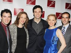 Beautiful the Carole King Musical stars Jarrod Spector, Jessie Mueller, Jake Epstein and Anika Larsen with director Marc Bruni. | Stars From Bullets, Hedwig, Aladdin & More Toast Susan Stroman at the New Dramatists Luncheon