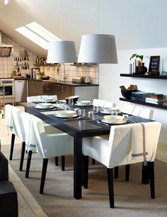 Wohntipps Für Den Essplatz. White Dining RoomsDining Room TablesDining ...