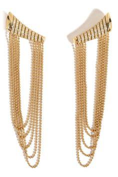 18kt Yellow Gold Star Earrings with White Diamonds | Nikos Koulis