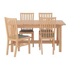 IKEA - NORDEN / NORRNÄS, Pöytä + 4 tuolia,