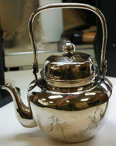 Japanese .950 Silver Teapot, Vintage Asian Tea Pot. This is just gorgeous!!