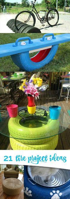 19 DIY Tire Project Ideas!