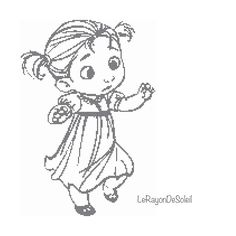 Cross stitch pattern Anna  from Frozen sketched portrait nursery decor Instant download PDF. by LeRayonDeSoleil on Etsy