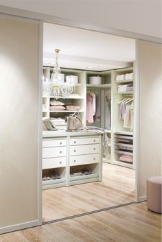 "Closet ideas!      traditional closet Walk in closet from ""CABINET"", Germany"