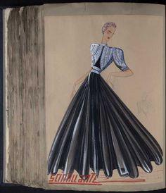 Robe Scintillante, Paris 1939, copyright Patrimoine Lanvin #JeanneLanvin #Lanvin