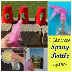 5 Educational Spray Bottle Games