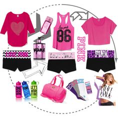 """Ariana Grande Inspired Victoria's Secret Workout clothes :)"" by janoskiians on Polyvore"