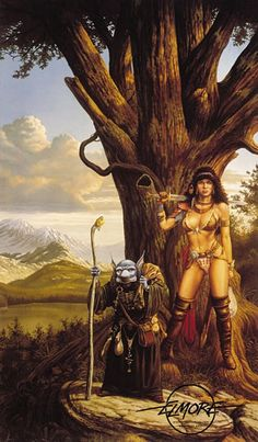 journey to the gathering - by Larry Elmore | Featured Artist on the Fantasy Gallery