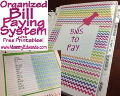 Giving away ONE FREE BILL BOOK on the blog!  Free Bill Paying System includes Binder, Dividers, & Printables.  www.MommyEdwards.com
