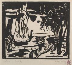 Collection Online   Vasily Kandinsky. Cliffs (Felsen). 1908–09 - Guggenheim Museum