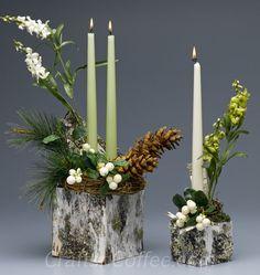 Set Of Birch Bark Woodland Napkin Rings With Pine And Cones - Beautiful diy birch bark lamp