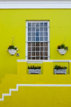 Brightly colored house front, Bo-Kaap district, Cape Town, South Africa