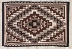 Two Grey Hills #Navajo rugs often use earth tones (reds, browns, greys) to make their eye-dazzling patterns.