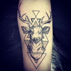 origami deer tatoo - LaNulle