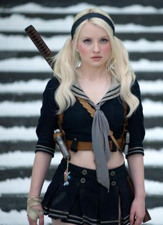 Sucker Punch movie, femme fatal, heroine, Emily Browning as BABYDOLL. Emily Browning, Gi Joe, Infamous: Second Son, Suckers, Celebs, Celebrities, Cosplay Girls, Anime Cosplay, Female Characters
