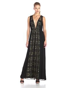 BCBGeneration Women's V-Neck Maxi Dress, Black/Combo, Medium BCBGeneration http://www.amazon.com/dp/B015RXT05A/ref=cm_sw_r_pi_dp_SZ8Hwb0VRTQT9