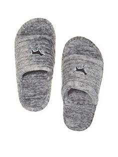 Victorias Secret Pink Cozy Soft Slippers Grey Marl  Small 56 >>> Be sure to check out this awesome product.