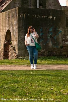 Hülle & Fülle Plus Size Fashion Blog: Sporty Look, OOTD, Casual Outfit, White Sneakers, Esprit