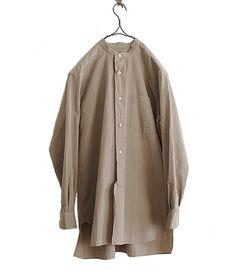COMOLI バンドカラーシャツ(KHAKI) http://floraison.shop-pro.jp/?pid=87657716