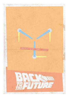 Back to the Future Minimalist Print  Flux Capacitor by lomocostore