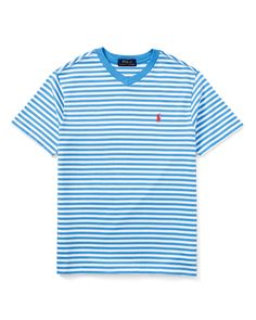 new style 7a6f6 734c4 Ralph Lauren Striped V-Neck Jersey Tee