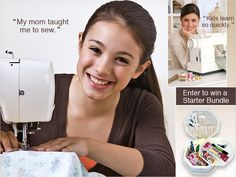 Great tips and links for teaching someone how to sew.
