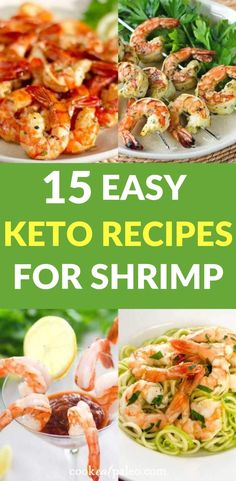 Are you in a dinner rut with the keto diet? Let these easyketo shrimp recipesinspire you to trysome new keto dinner ideas at home this week. These shrimp recipes are perfect for healthy easy low carb dinners! Recipes for shrimp pasta, shrimp salad, shrimp cocktails and more! This is the perfect resource for meal planning inspiration! #ketoshrimprecipes #lowcarbdinners