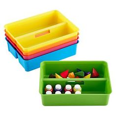 Smart Store Handled Tray check out in store and see if enough small dividers can do inside to do crayon organizer