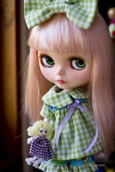 mim in apple green gingham by JennWrenn, via Flickr