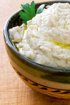 Roasted garlic baba ganoush - one of my favorite dips! A great gluten-free, paleo appetizer. ~ http://cookeatpaleo.com