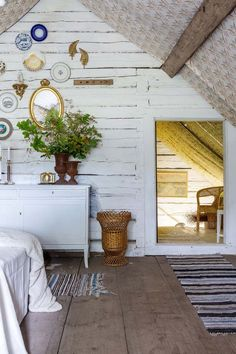 rustic attic room